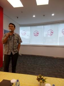 Dr Daeng M Faqih presentasi di AAJI